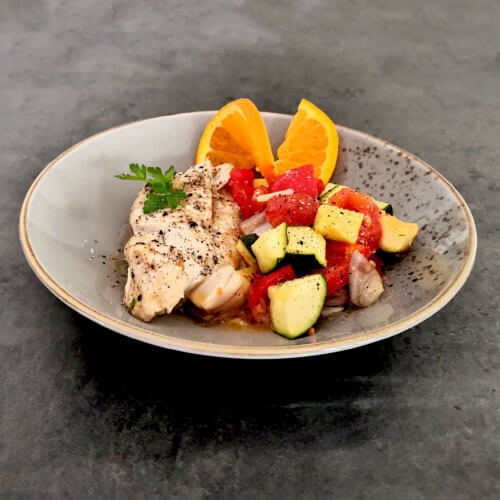 Seelachs-Gemüse-Päckchen
