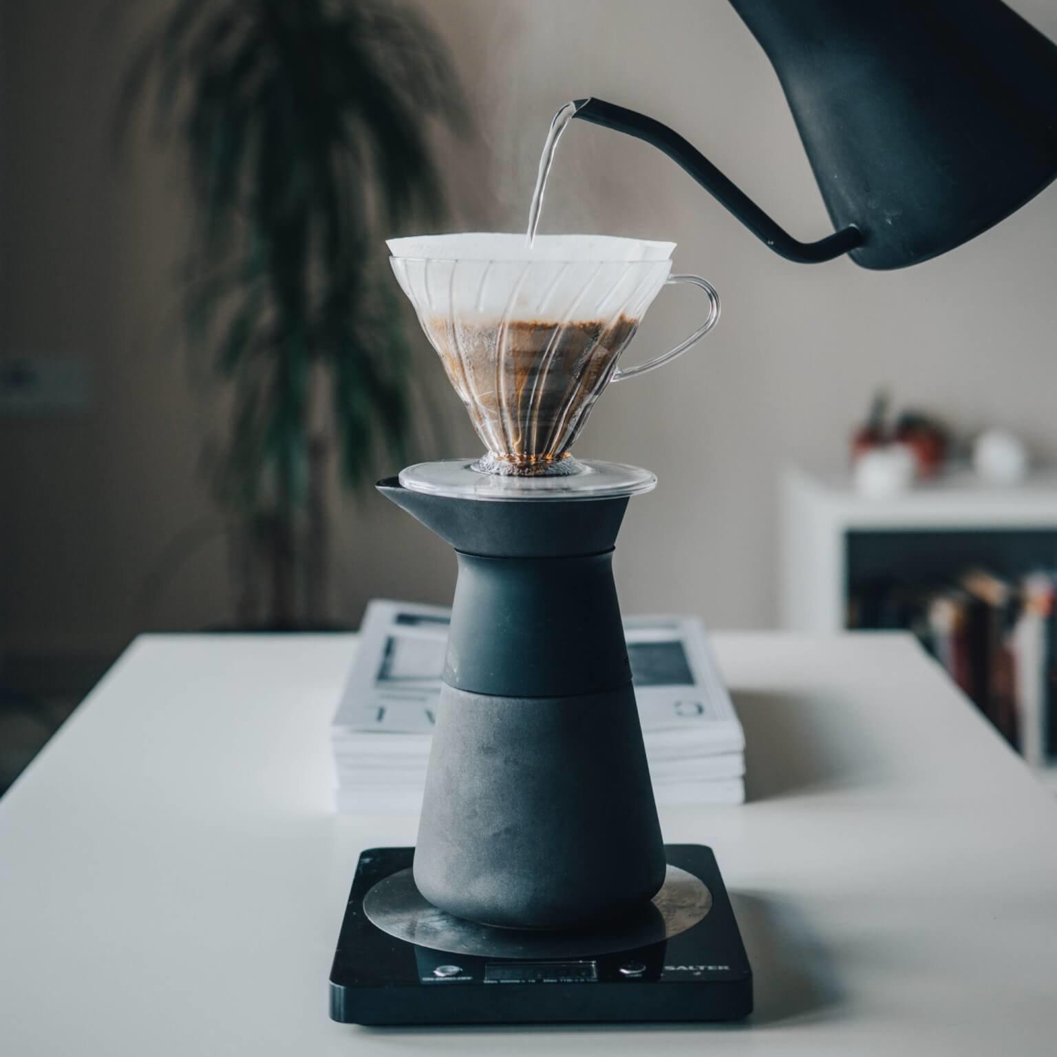 Porzellanfilter zur Kaffeezubereitung