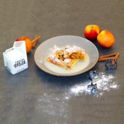 Apfeltaschen mit Vanillesauce
