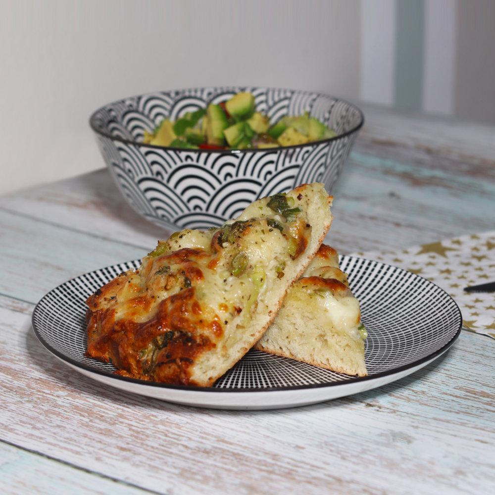 Mozzarella-Knoblauch-Brot