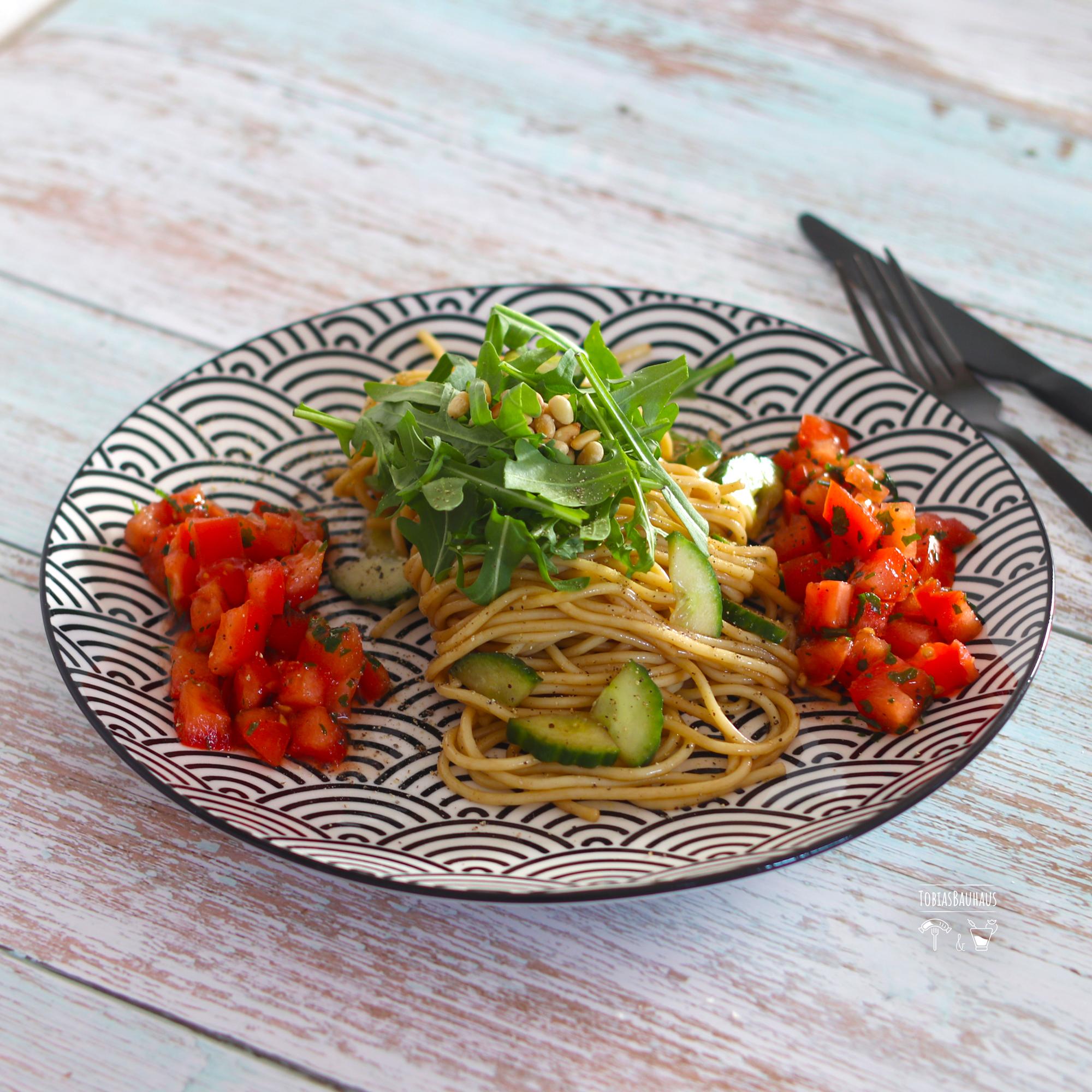 Spaghetti-Rucola-Salat